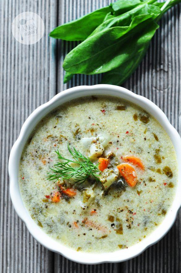Zupa szczawiowa z koperkiem
