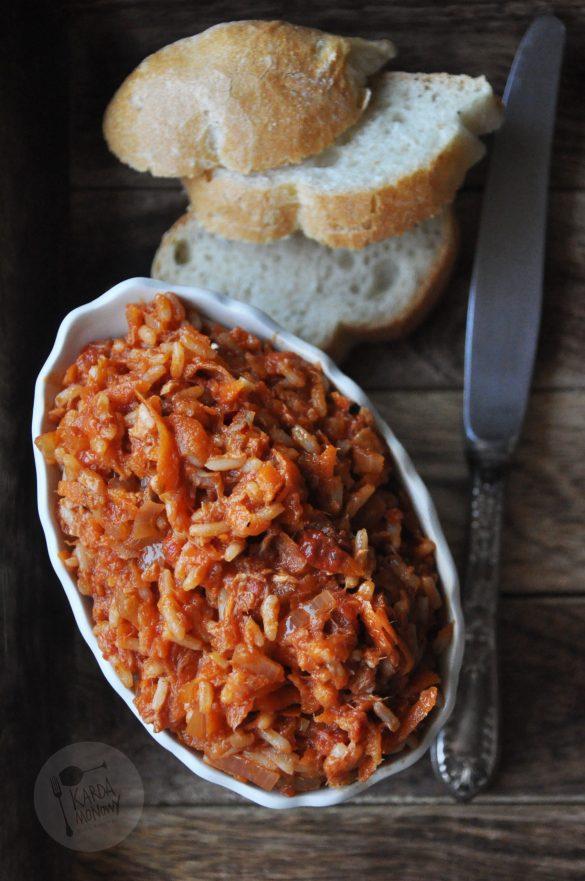 Paprykarz z makrelą i ryżem