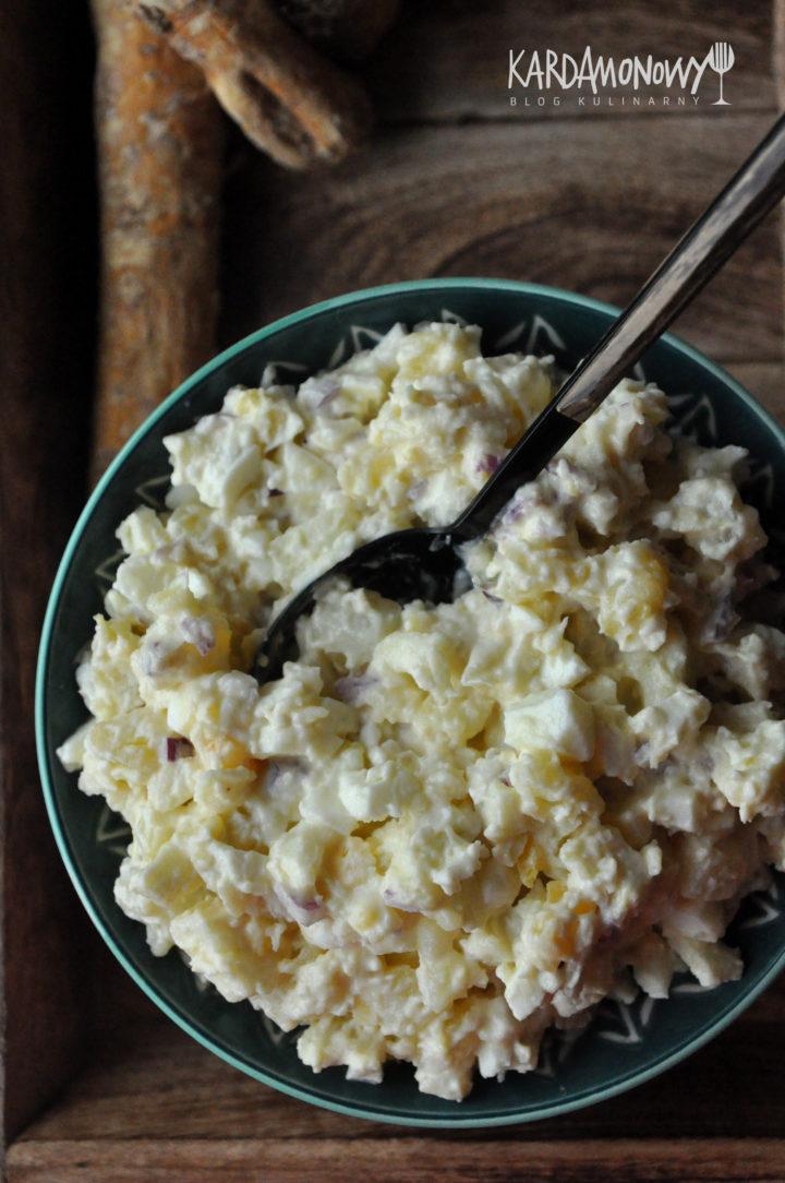Sałatka ziemniaczana z jajkami i chrzanem