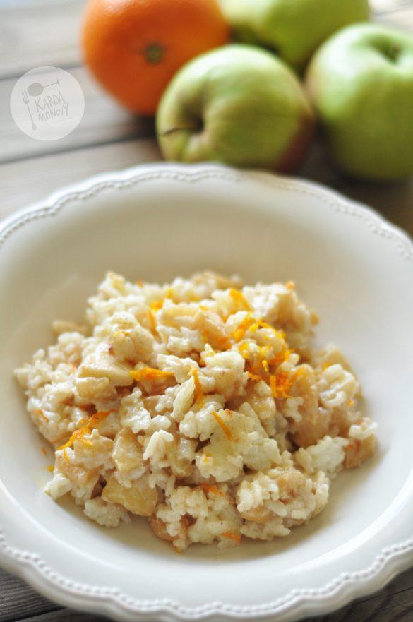 Ryż z jabłkami i skórką z pomarańczy