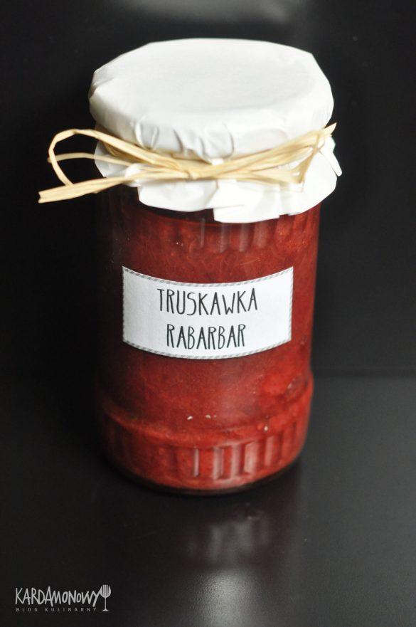 Dżem truskawkowo-rabarbarowy z cynamonem