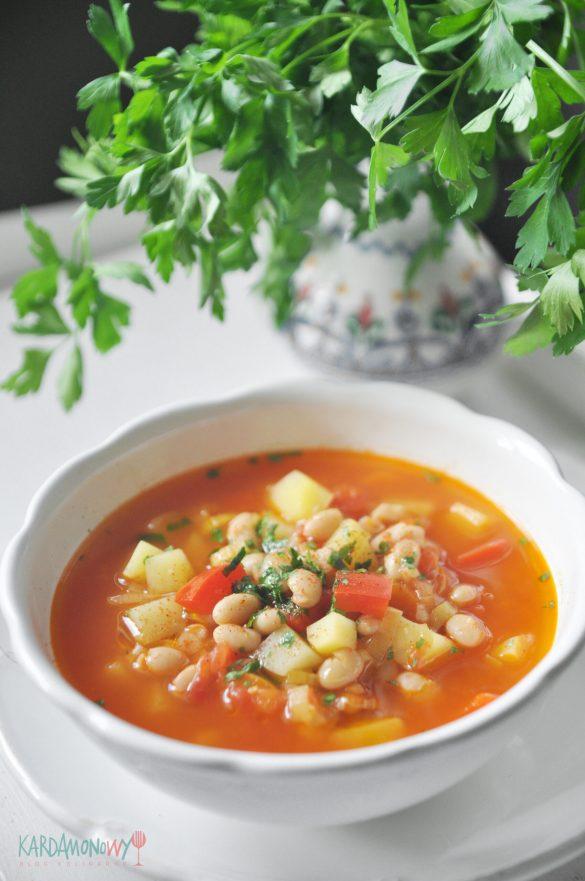 Zupa pomidorowo-fasolowa
