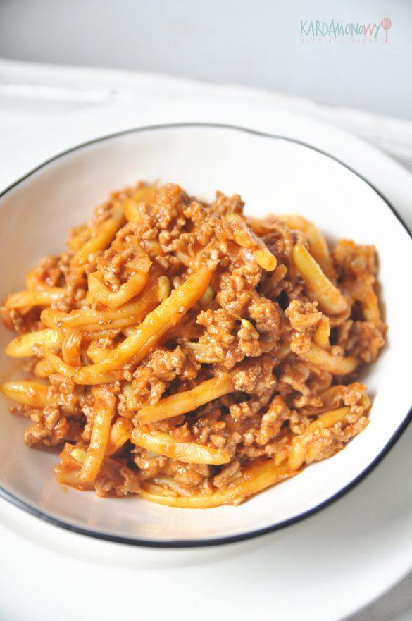 Fasolka szparagowa z mięsem mielonym